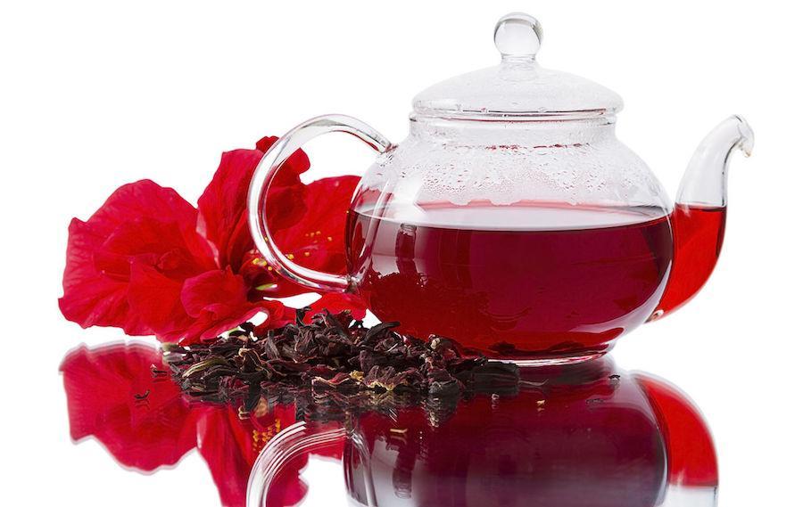 Чай каркадэ без сахара