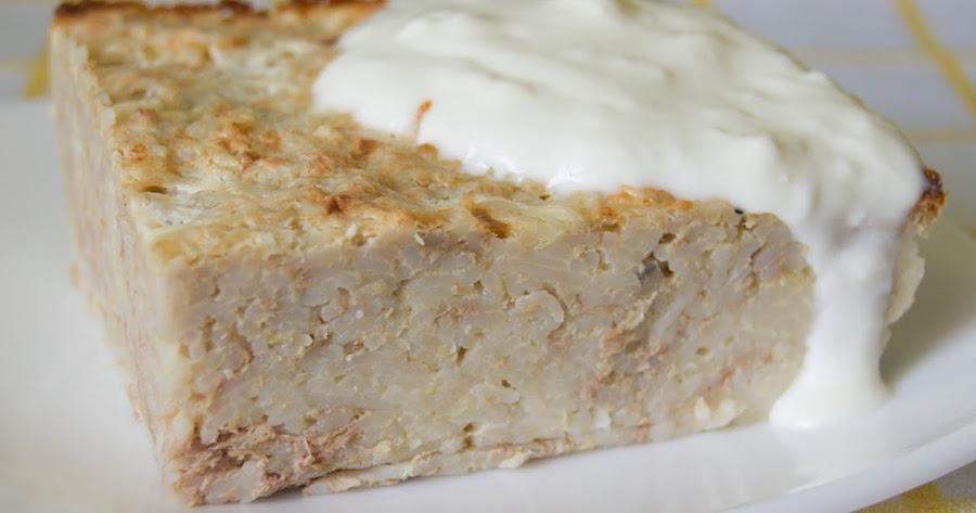 Пудинг из вермишели с мясом