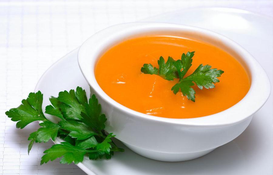 Готовый тыквенно-морковный суп-пюре