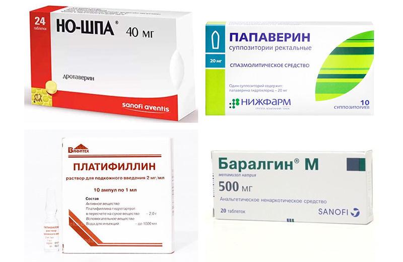 Спазмолитики при реактивном панкреатите